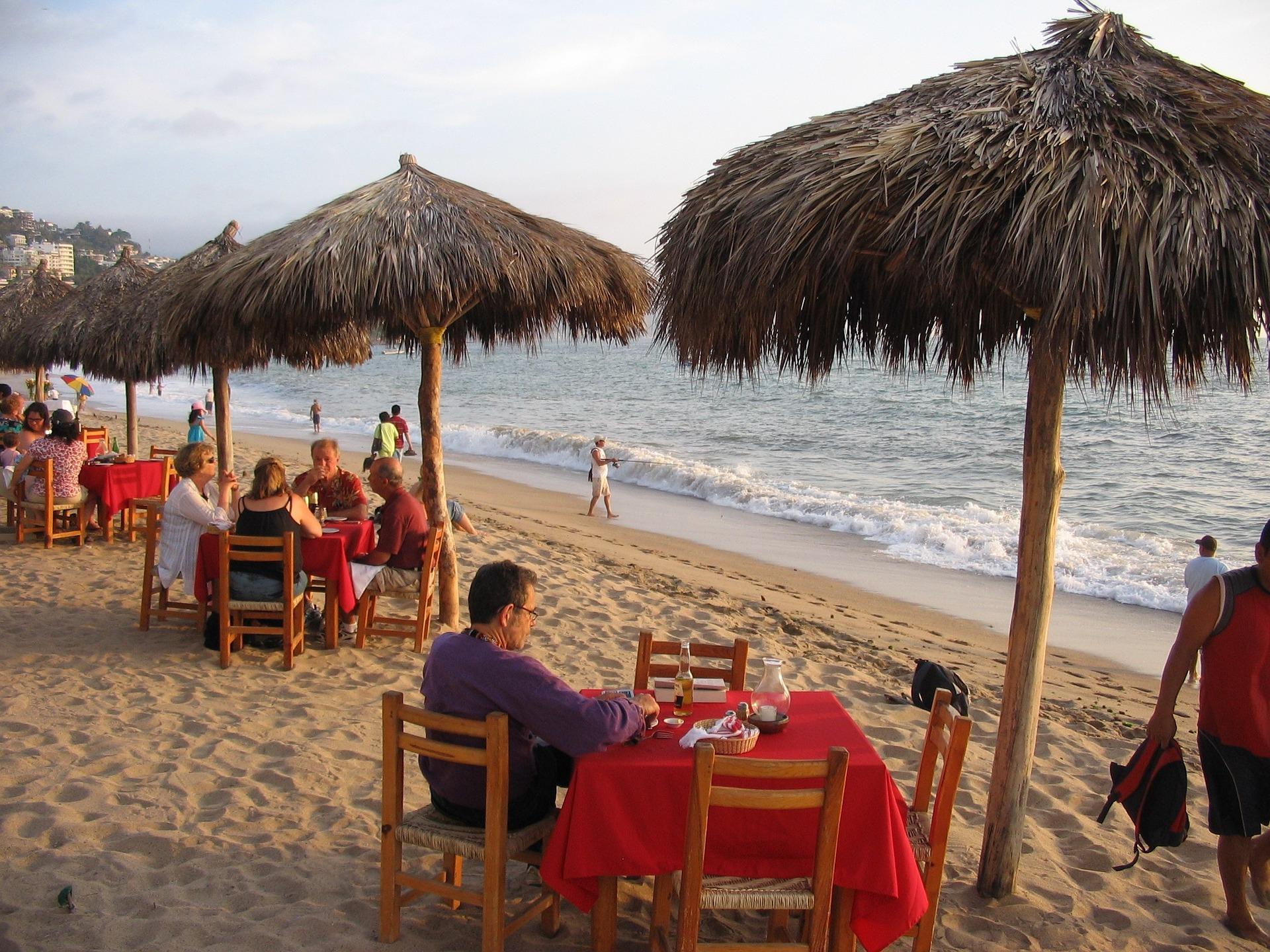 Holiday beach restaurant