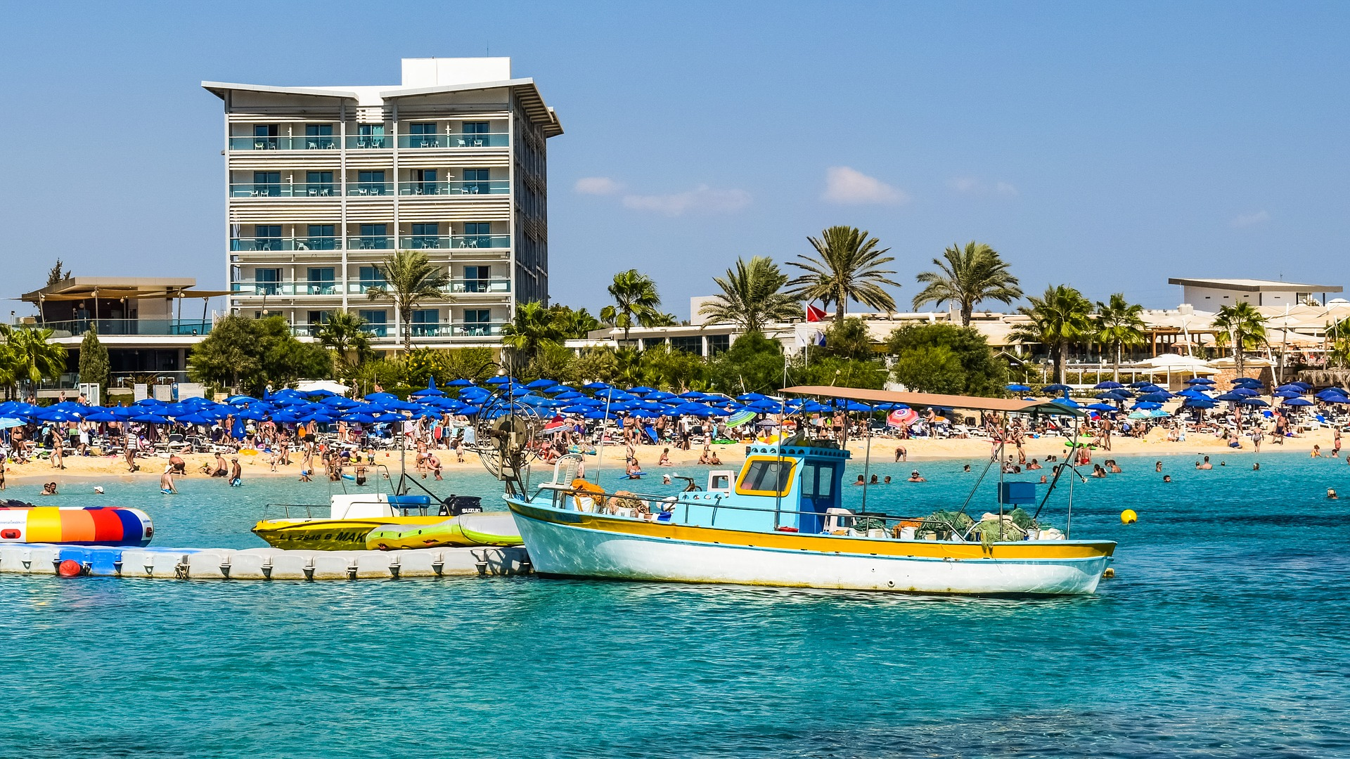 Ayia Napa hotel and beach